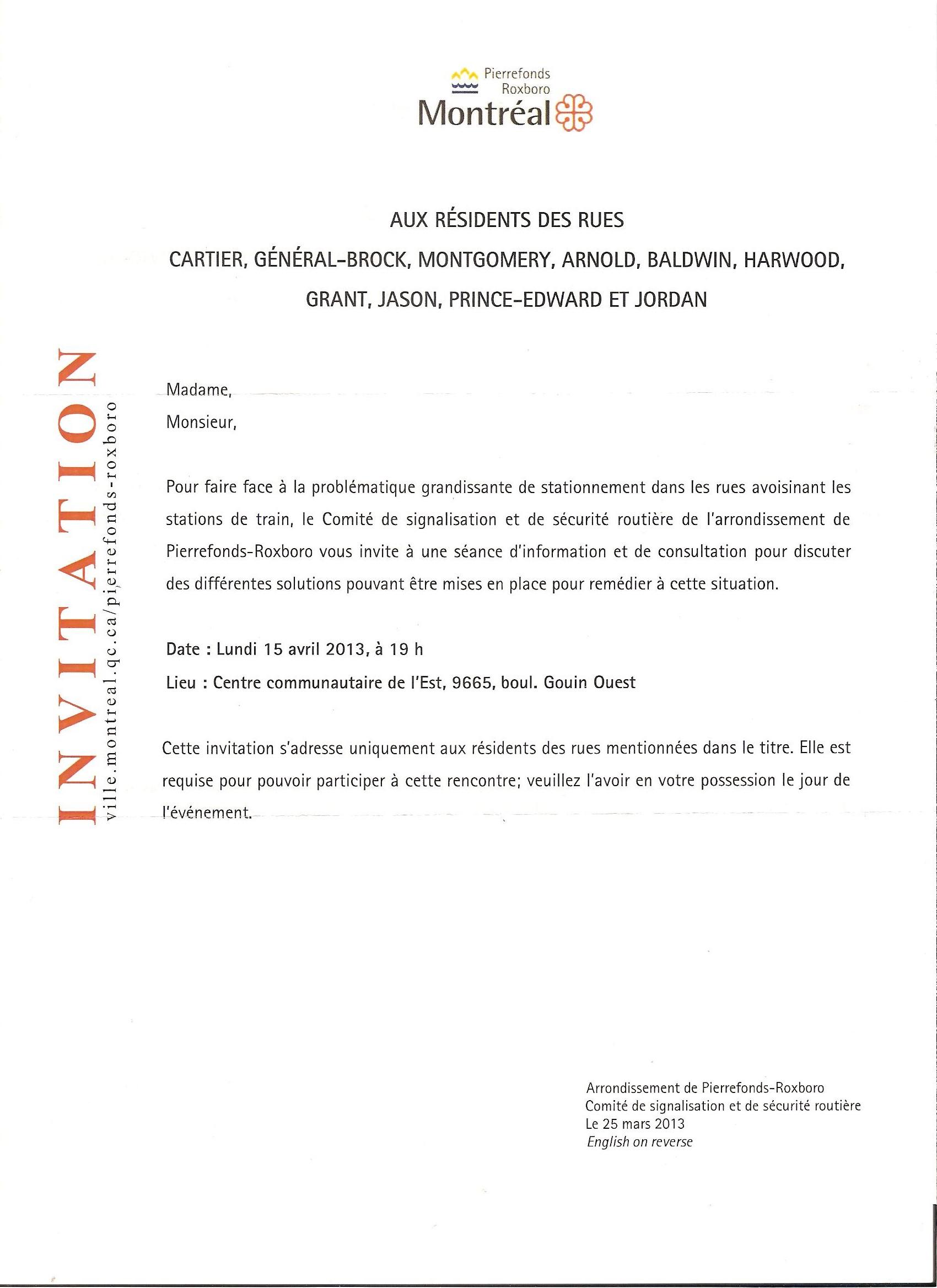 modele de lettre pour une invitation APRPR » Sécurité Security modele de lettre pour une invitation
