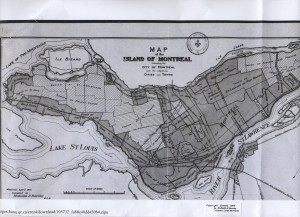 Carte 1914 Montréal