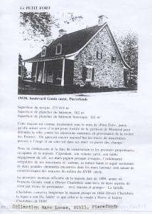 Le Petit Fort, Construit 1750 (1-3
