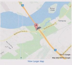 Villa Marguerite - Saguenay House, Carte 001 (640x581)