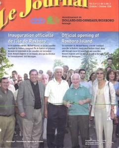 Roxboro Island opening, contribution Mike Rooney