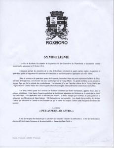 Roxboro, Logo, français