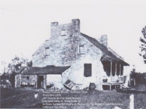Maison Thomas-Brunet, photo 1928, construite 1834 SPHIB-SG
