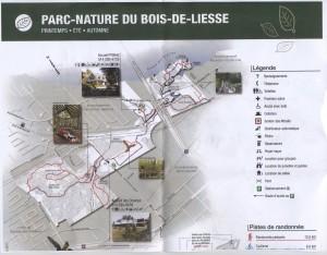 Carte, parc nature Bois-de-Liesse 001