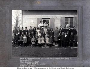École du rang des Sources, coin SE Boul. Gouin O., Pfds, construite 1845, SPHIB-SB (André Laniel), Photo 1917