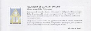 Maison Jacques Richer dit Louveteau, construite 1835, 163 Chemin du Cap St Jacques, Parc Nature du Cap-Saint-Jacques, Pierrefonds - Copie
